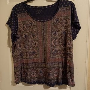 Lucky Brand Paisley Top Size 3X